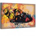 Мотоцикл / Скорость 80х120 см Раскраска картина по номерам на холсте с неоновой краской AAAA-RS193-80x120