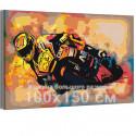 Мотоцикл / Скорость 100х150 см Раскраска картина по номерам на холсте с неоновой краской AAAA-RS193-100x150
