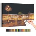 Дворцовая набережная Санкт-Петербург Раскраска картина по номерам на холсте AAAA-RS187
