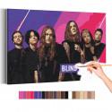 Blind Channel / Violent Pop Раскраска картина по номерам на холсте с неоновой краской AAAA-RS340
