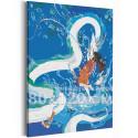 Хаку и Тихиро / Унесенные призраками Аниме 80х120 см Раскраска картина по номерам на холсте с неоновой краской AAAA-ANI043-80x1