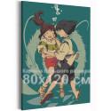 Хаку и Тихиро под водой / Унесенные призраками Аниме 80х120 см Раскраска картина по номерам на холсте AAAA-ANI047-80x120