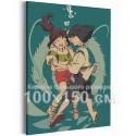Хаку и Тихиро под водой / Унесенные призраками Аниме 100х150 см Раскраска картина по номерам на холсте AAAA-ANI047-100x150