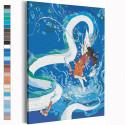 Хаку и Тихиро / Унесенные призраками Аниме Раскраска картина по номерам на холсте с неоновой краской AAAA-ANI043