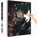 Изуку Мидория / Деку / Моя геройская академия Аниме Раскраска картина по номерам на холсте с неоновой краской AAAA-ANI045