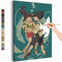 Хаку и Тихиро под водой / Унесенные призраками Аниме Раскраска картина по номерам на холсте AAAA-ANI047