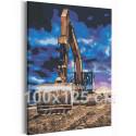 Экскаватор и синее небо / Машины 100х125 см Раскраска картина по номерам на холсте AAAA-RS184-100x125