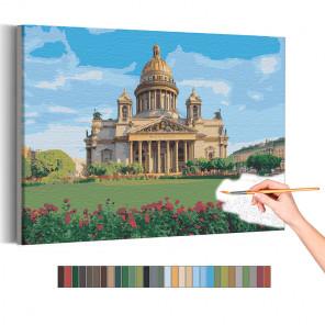 Исаакиевский собор / Лето / Санкт-Петербург Раскраска картина по номерам на холсте AAAA-RS197