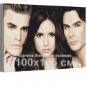 Дневники вампира - Сальваторе и Елена 100х125 см Раскраска картина по номерам на холсте AAAA-RS217-100x125