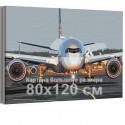 Самолет на взлетной полосе / Полет 80х120 см Раскраска картина по номерам на холсте AAAA-RS194-80x120