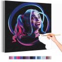Харли Квин / Отряд самоубийц Раскраска картина по номерам на холсте с неоновой краской AAAA-RS315