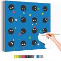 Сусуватари / Пыльные зайчики Унесеннные призраками Аниме Раскраска картина по номерам на холсте с неоновой краской AAAA-RS095