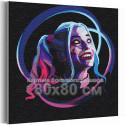 Харли Квин / Отряд самоубийц 80х80 см Раскраска картина по номерам на холсте с неоновой краской AAAA-RS315-80x80