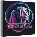 Харли Квин / Отряд самоубийц 100х100 см Раскраска картина по номерам на холсте с неоновой краской AAAA-RS315-100x100