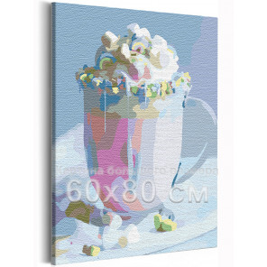 Воздушный десерт / Еда / Сладости 60х80 см Раскраска картина по номерам на холсте AAAA-RS149-60x80