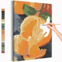 Яркий мандарин / Еда / Натюрморт Раскраска картина по номерам на холсте AAAA-RS150