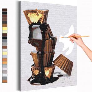 Шоколадные конфеты / Сладости / Еда Раскраска картина по номерам на холсте AAAA-RS158