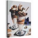 Десерт для двоих / Завтрак в кафе 75х100 см Раскраска картина по номерам на холсте