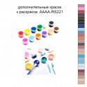 Дополнительные краски для раскраски 40х50 см AAAA-RS221