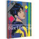 Bangtan Boys / BTS Корейская K-POP группа 80х100 см Раскраска картина по номерам на холсте с неоновой краской AAAA-RS246-80x100