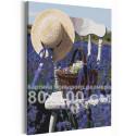 Прованс /Лаванда / Цветы 80х100 см Раскраска картина по номерам на холсте с неоновой краской AAAA-RS224-80x100