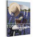 Прованс /Лаванда / Цветы 100х125 см Раскраска картина по номерам на холсте с неоновой краской AAAA-RS224-100x125