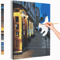 Ночное кафе / Санкт-Петербург Раскраска картина по номерам на холсте AAAA-RS247