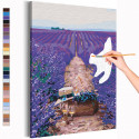 Романтическое свидание / Лаванда / Цветы Раскраска картина по номерам на холсте с неоновой краской AAAA-RS220