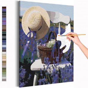 Прованс /Лаванда / Цветы Раскраска картина по номерам на холсте с неоновой краской AAAA-RS224