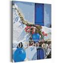 Солнечный берег Греции 80х120 см Раскраска картина по номерам на холсте AAAA-RS201-80x120