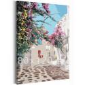 Солнечный дворик / Греция 80х120 см Раскраска картина по номерам на холсте AAAA-RS207-80x120