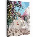 Солнечный дворик / Греция 100х150 см Раскраска картина по номерам на холсте AAAA-RS207-100x150