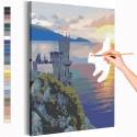 Ласточкино гнездо / Крым / Морской берег Раскраска картина по номерам на холсте AAAA-RS202