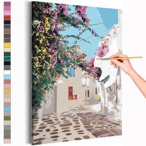Солнечный дворик / Греция Раскраска картина по номерам на холсте AAAA-RS207