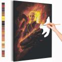 Девушка и драконы Раскраска картина по номерам на холсте AAAA-RS211
