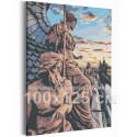 Канал Грибоедова / Каменные стражи 100х125 см Санкт-Петербурга Раскраска картина по номерам на холсте AAAA-RS275-100x125