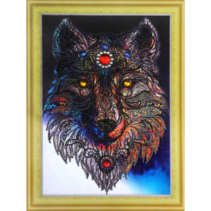 Волчица Алмазная картина фигурными стразами Color Kit FM011