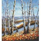 Березки Алмазная вышивка (мозаика) Sddi Anya