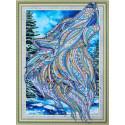 Песнь волка Алмазная картина фигурными стразами Color Kit FM014