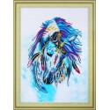 Белая лошадь Алмазная картина фигурными стразами Color Kit FM015