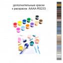 Дополнительные краски для раскраски 30х40 см AAAA-RS233