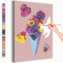 Анютины глазки мороженое / Цветы Раскраска картина по номерам на холсте AAAA-RS232