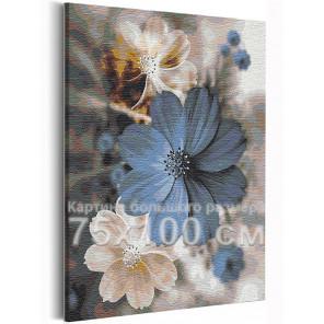 Доброе утро / Цветы 75х100 см Раскраска картина по номерам на холсте с металлической краской AAAA-RS233-75x100