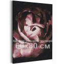 Лепестки пиона / Цветы 60х80 см Раскраска картина по номерам на холсте AAAA-RS234-60x80