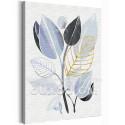Стильные листья 60х80 см Раскраска картина по номерам на холсте с металлической краской AAAA-RS235-60x80