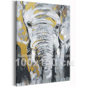 Серый слон / Животные 100х150 см Раскраска картина по номерам на холсте с металлической краской AAAA-RS289-100x150