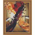 Красное и белое Алмазная вышивка мозаика Color Kit TSGJ1222