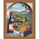 Итальянский пейзаж Алмазная вышивка мозаика Color Kit TSGJ1099