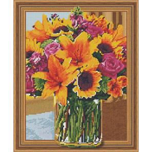 Букет с лилиями Алмазная вышивка мозаика TSGJ1105
