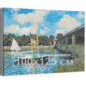 Мост в Аржантее Клод Моне / Известные картины / Импрессионизм 100х125 см Раскраска картина по номерам на холсте AAAA-RS267-100x